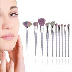 10pcs Unicorn Makeup Brushes Set